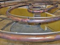 黒鉛化炉の炉床で水冷管上に取り付けたSAVEDRYセンサー